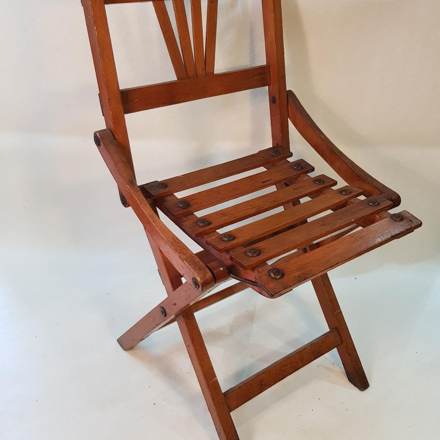 Late 19th Century Child's Fold-Up Chair (likely French)