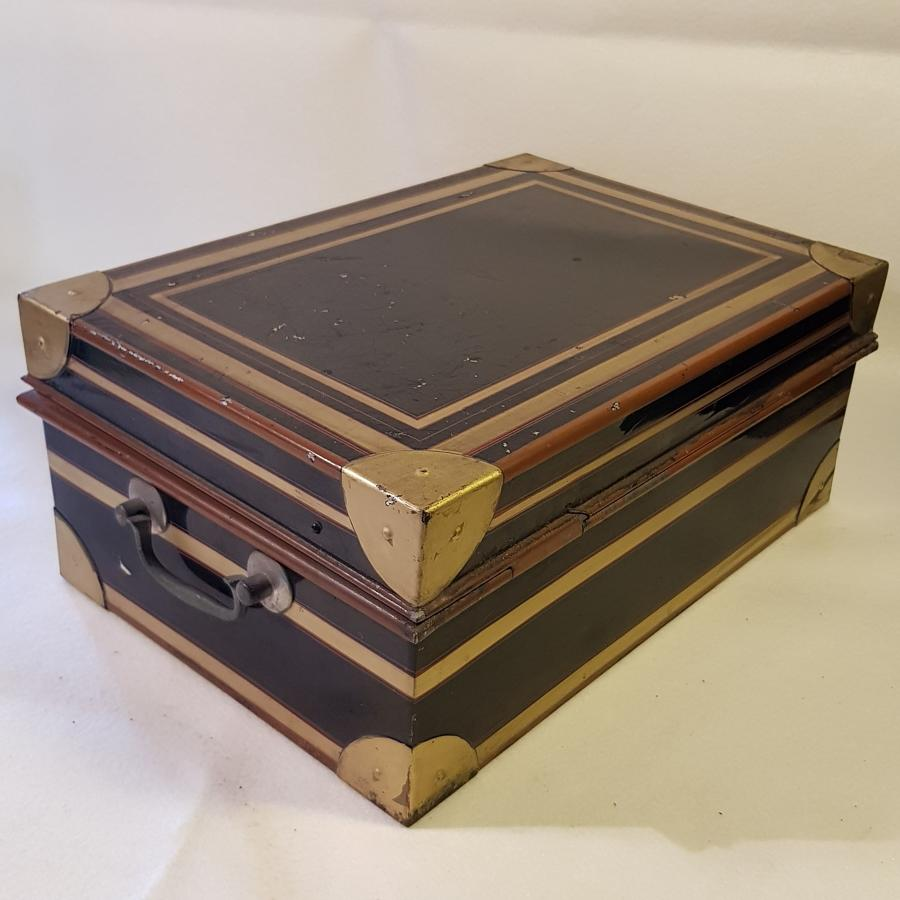 Northern Indian Railways 1920s Station Master's Box and Contents
