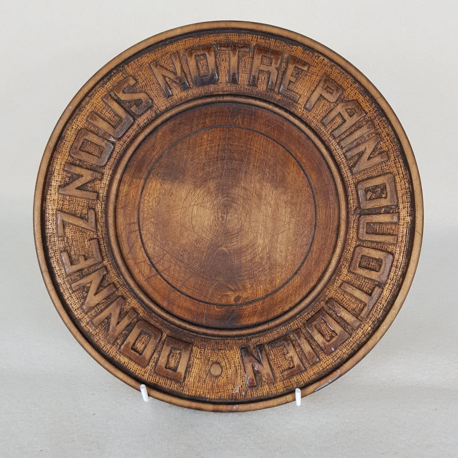 French 1930s Carved Wooden Bread Board