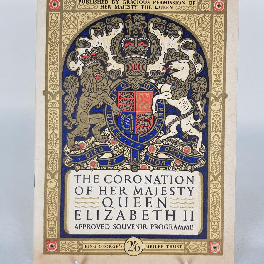 Queen Elizabeth II Official Coronation Programme