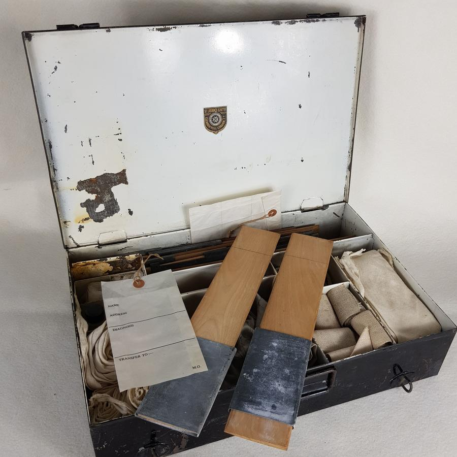 Very Early 20th Century St John's Ambulance Box and Contents