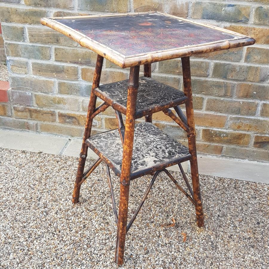 Edwardian Faux Bamboo Side Table