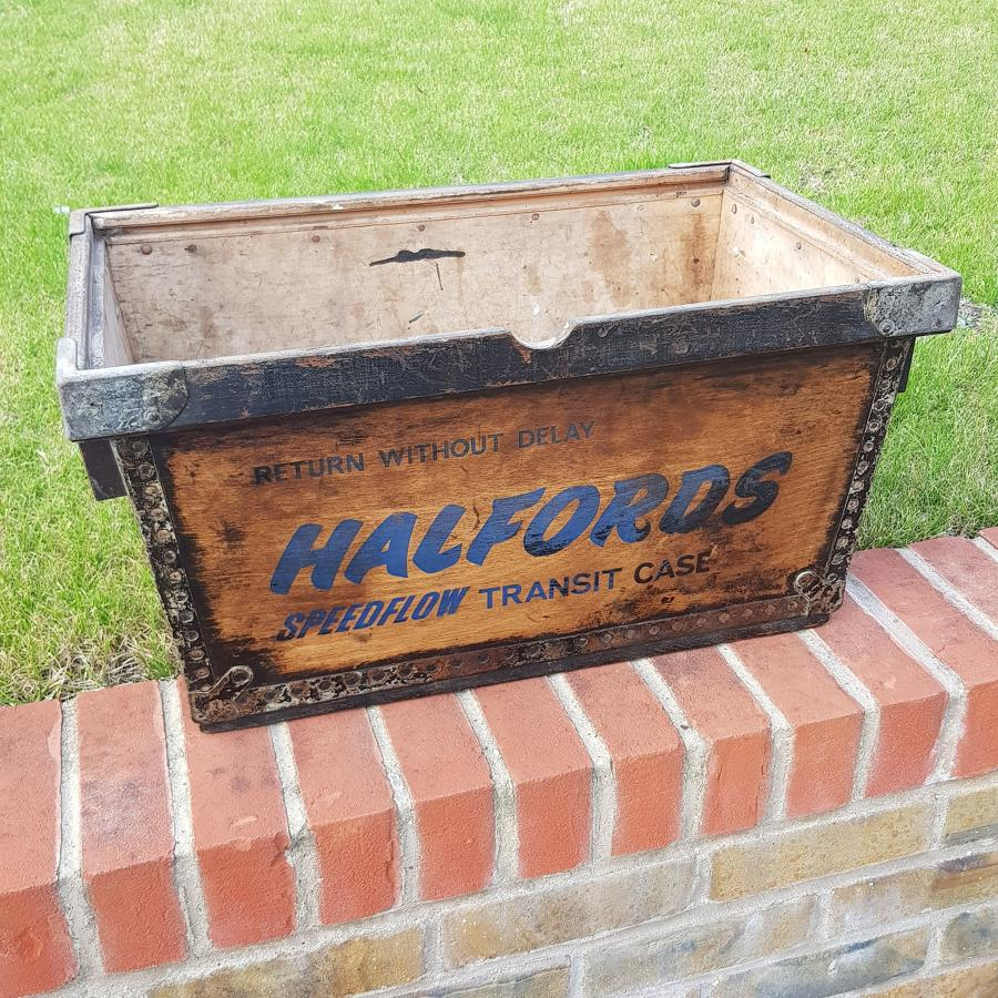 Halfords 1960s/1970s Store Delivery Crate