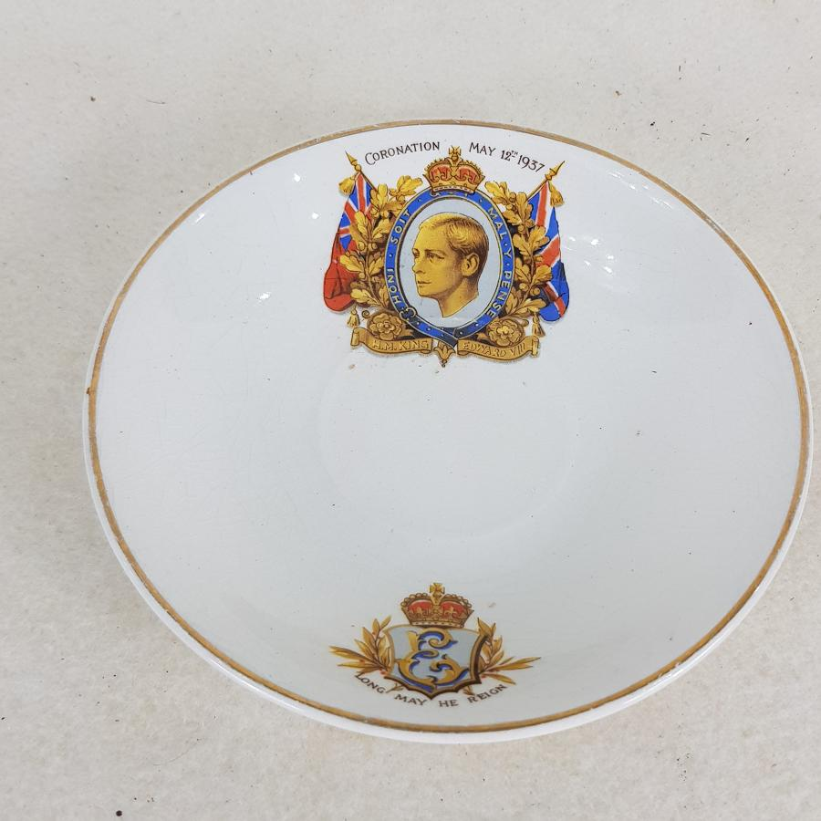 King Edward VIII Commemorative Coronation Saucer