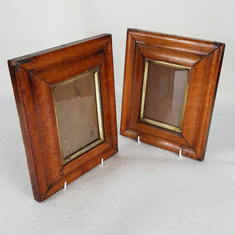 Pair of Small Victorian Wall Hanging Photograph Frames