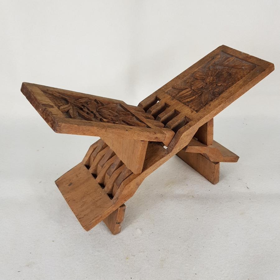 1930s Chinese Collapsible Stool / Book Stand