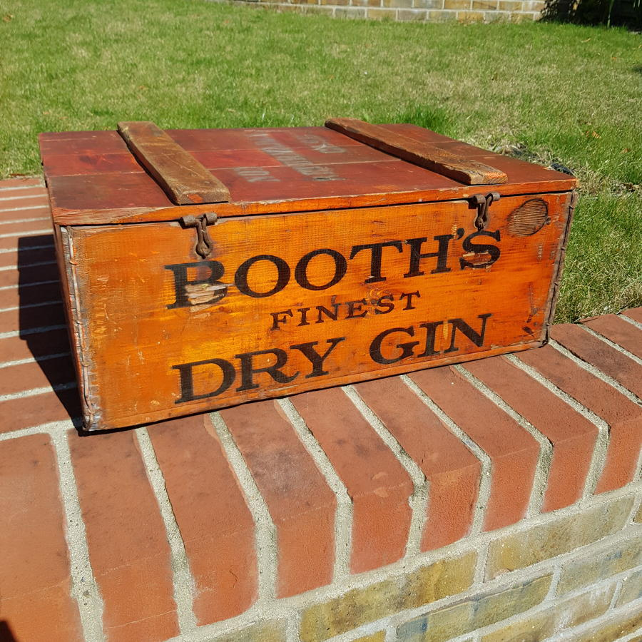 Rare Booths Gin Delivery Crate circa 1920