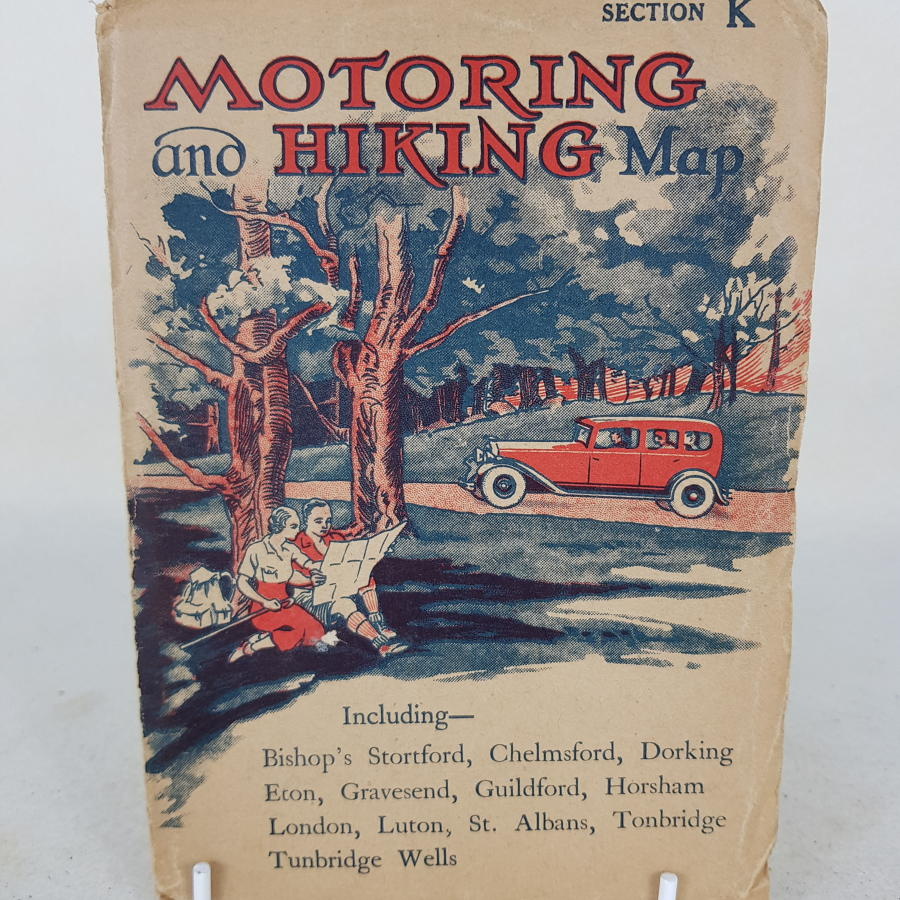 1920s Driving And Hiking Map of London and Hertfordshire