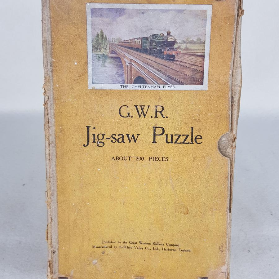 Chad Valley GWR The Cheltenham Flyer 1930s Jig Saw Puzzle (Complete)