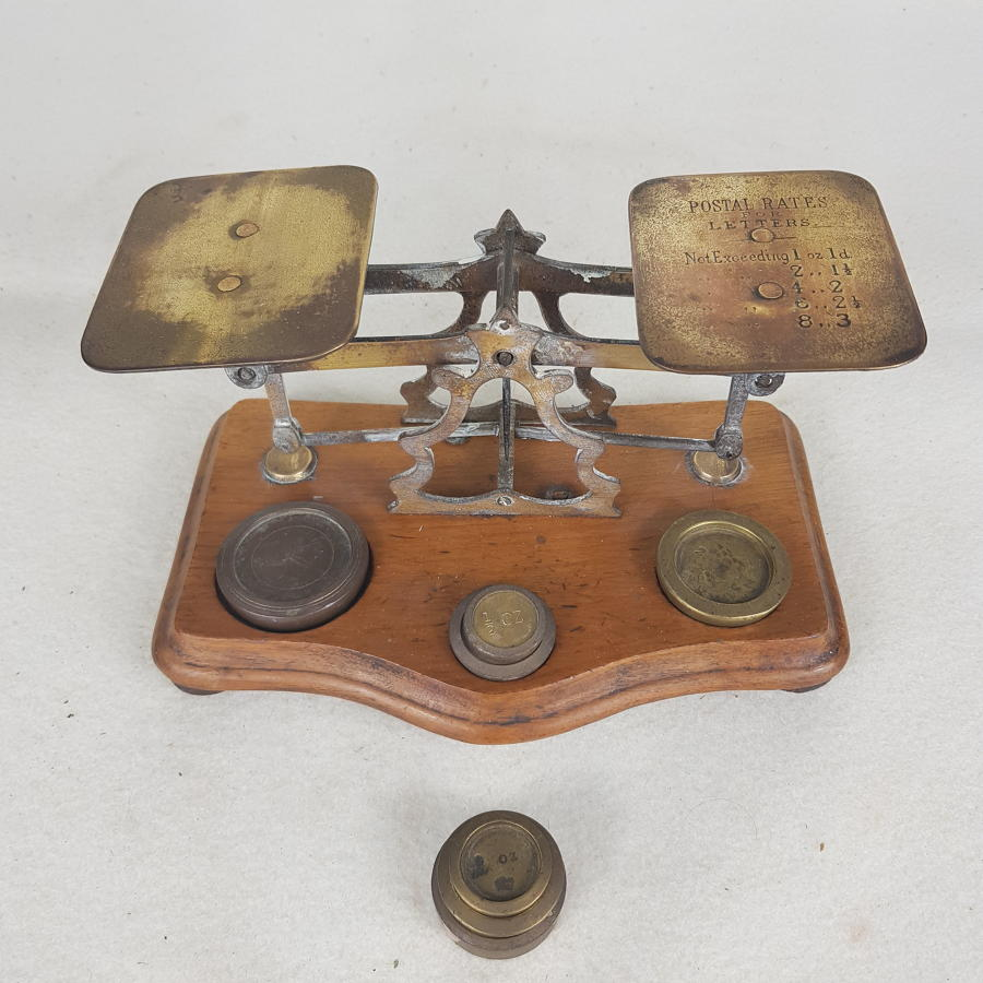 Victorian Brass British Postal Scales and Weights