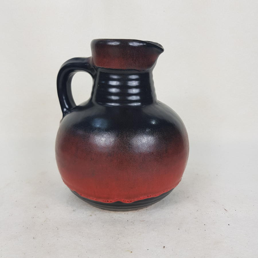 Medium Bay Keramik Black and Red 1960s/70s Jug 621/21
