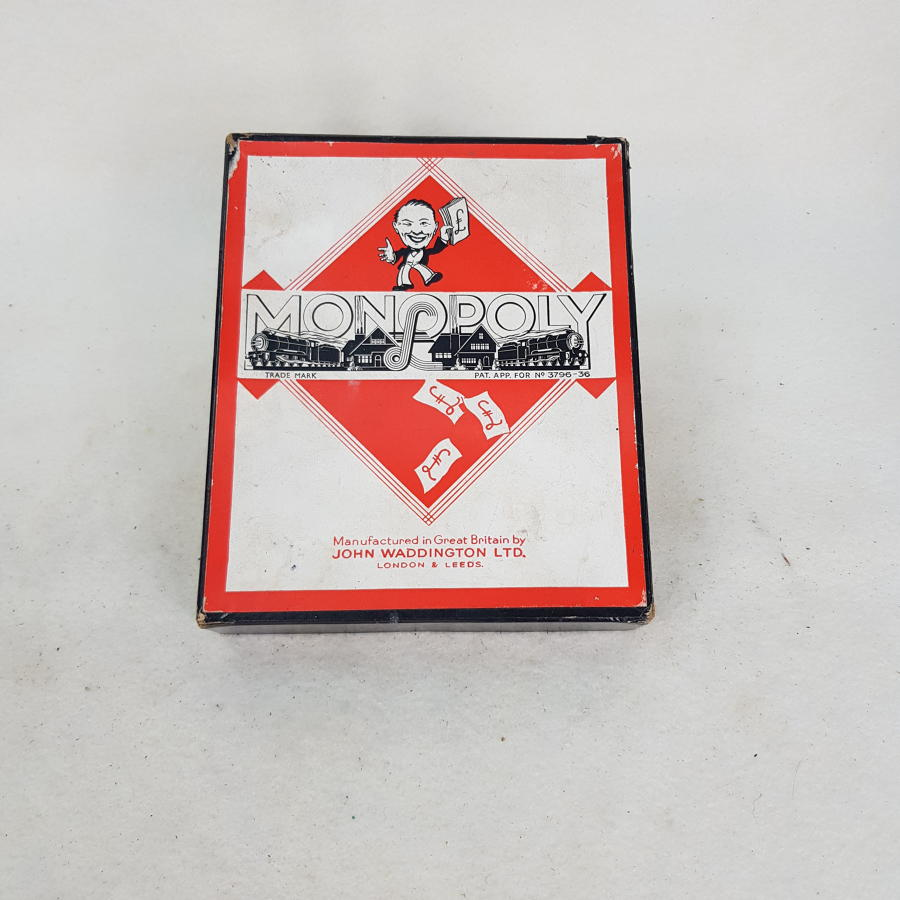 1930s Monopoly Pieces, Cards and Money