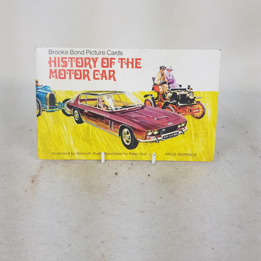 Brooke Bond Tea Cards c1970 - History Of The Motor Car (complete)