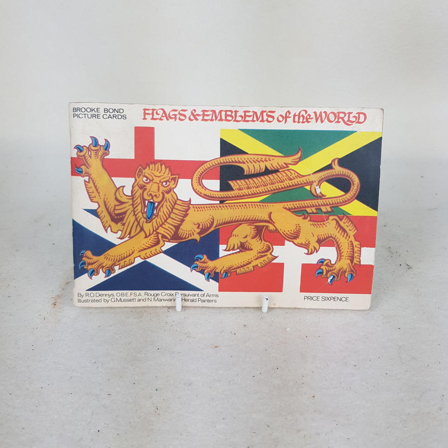 Brooke Bond Tea Cards c1970 - Flags & Emblems Of The World (complete)